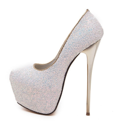 5698186793 Gdgydh Fashion Women Heels Platform Shoes 2018 New Spring Autumn Bling  Women Pumps Thin Heels Sexy Slim Party Shoes High Heels