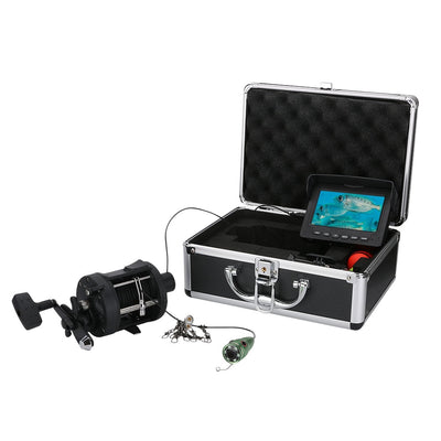 "GAMWATER  15M 25M  HD 1000TVL Underwater Ice Fishing Camera Sea wheel Video Fish Finder 4.3"" LCD 6W IR LED 165 Degrees Angle"