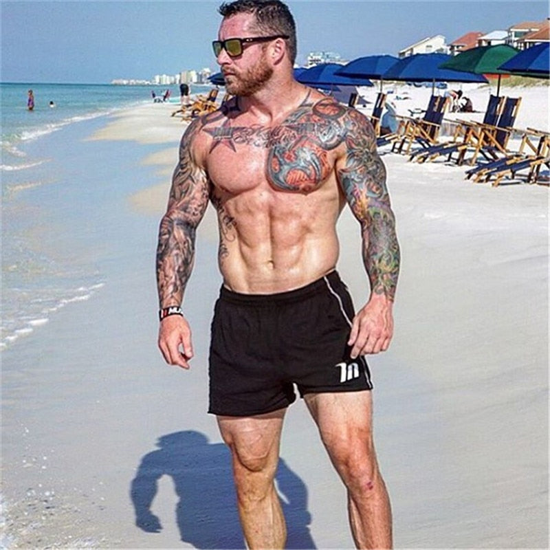 New Men Fitness Bodybuilding Shorts Summer Gyms Workout Male Camo Sportswear Short Pants Jogger Beach Man Brand Sweatpants