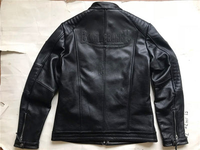Read Description! Asian size Harley motorcycle rider jacket, slim mens genuine leather jacket, man's genuine leather coat