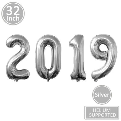 Lincaier 2019 Happy New Year Gold Foil Balloons Eve Party Decor 2018 Merry Christmas Decorations For Home Ornaments Santa Claus