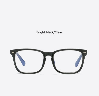 Sexy Purple Spectacle Frame Square Glasses Frame Clear Lens Myopia Nerd Black Sunglasses Two Tone Rivet Eyeglasses Frames Women