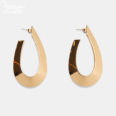 chicmaxonlineRectangle Metal Drop Earrings Women Party Hanging Earrings Handmade Trendy Statement Jewelry Gifts Female Bijoux