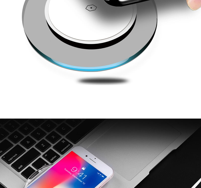 Qi Wireless Charger for Samsung Galaxy S9 S8 Plus Xiaomi mi 9 Suntaiho Fashion Charging Dock Cradle Charger for iphone XS MAX XR
