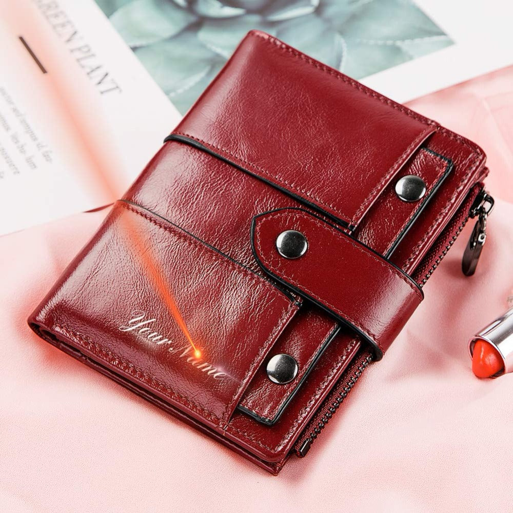 e8f034f68205 GZCZ Wallet Female Genuine Leather Women Purse Fashion Hasp Small Wallets  Photo Holder Clamp For Money