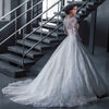 KKW891 Vestido de Noiva Ball Gown Princess Wedding Dress Lace Luxury Robe de Mariage Long Sleeves Vestidos de Novia