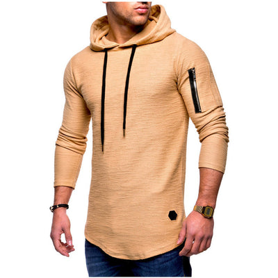 Plus Size Autumn Sport Shirt Men Long Sleeve Hooded Running T-Shirt Joggers Fitness Top Sweatshirts Gym Workout t shirt Clothing
