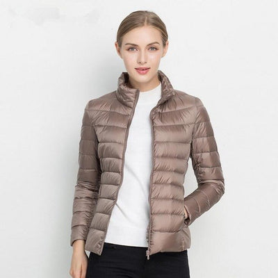 Bachash Christmas Gift Solid Color Zipper Women Jacket 2018 New Fashion Autumn Winter Slim Warm Ladies Coats Plus Size Outerwear