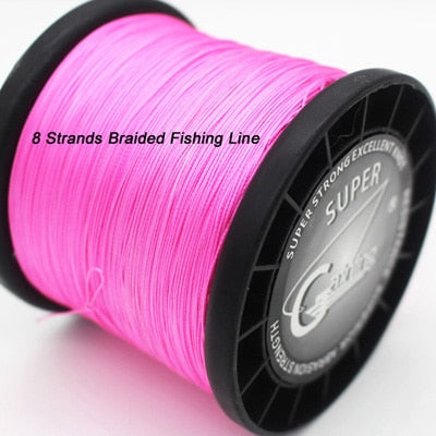 Gaining 8 Strands Braided Fishing Line 1000m Multicolor Japan Super Strong Multifilament Fishing Line 30LB 40LB 85Lb 128LB 200LB