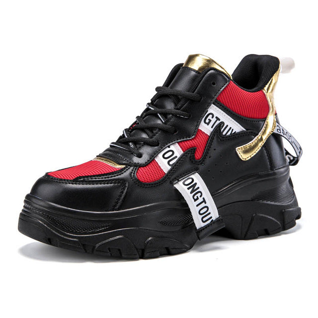 42df1f256 ADBOOV New Fall Winter Fashion Women Shoes PU Leather Platform Sneakers  Women Ladies Trainers Casual Shoes