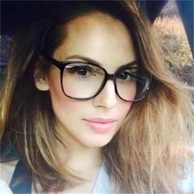 retro glasses transparent square Optical EyeGlasses frames women brand designer clear fashion fake glasses large eyewear frames