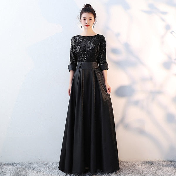 Golden Evening Dress Long Prom Party Dresses Evening Gown Formal Dress Women Elegant Robe