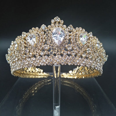 New Bling Wedding Crown Diadem Tiara With Zirconia Crystal Elegant Woman Tiaras and Crowns For Pageant Party