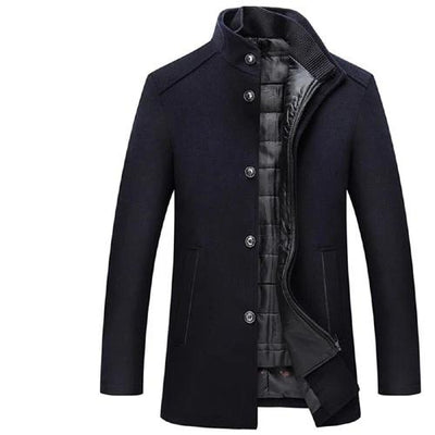 Wool Coat Men Thick Overcoats Topcoat Mens Single Breasted Coats And Jackets With Adjustable Vest 4 Colours M-3XL