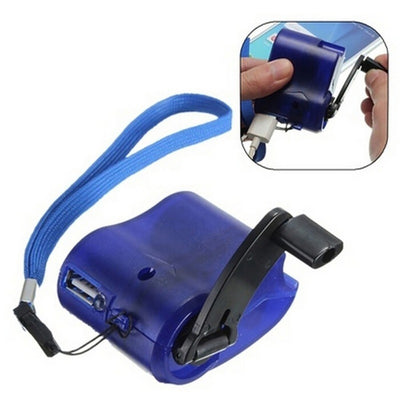 EDC USB Phone Emergency Charger For Camping Hiking Outdoor Sports Hand Crank Travel Charger camping equipment Survival Tools