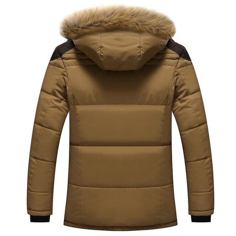 Winter Fur Collar Coat Hooded Jacket Men Winter Windproof Thicken Fleece Parka Mens Jackets and Coats Plus 5XL Outwear Clothes