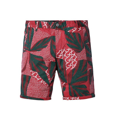 2019 Summer New Floral Hawaii Shorts Men Slim Fit Fashion Print Plus Size Casual Mens Clothing High Quality
