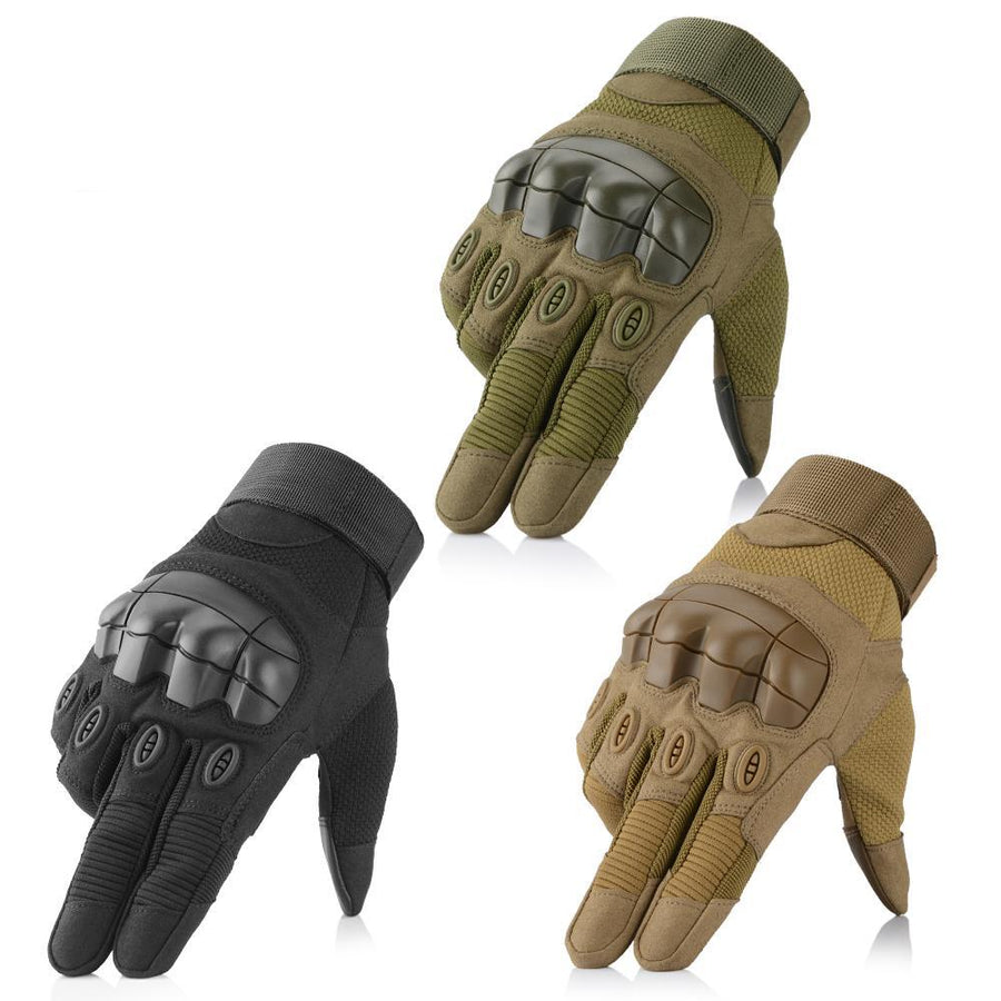 Tactical Military Rubber Full Finger Gloves Army Combat Touch Screen Hard Knuckle Protective Gear Anti-Skid Driving Gloves Men