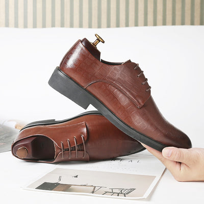 Misalwa Pointed Toe Mens British Style Shoes Business Oxford Brown Leather Shoes Men Gentleman Black Wedding Footwear Plus Size