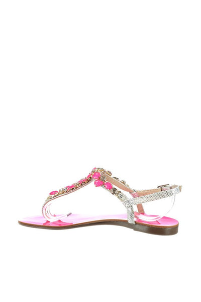 Silver Fuchsia Women's Sandals