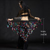 Women belly dance clothes big sequins belly dance scarf lady dance accessories girls belly dance waist belt hip scarf