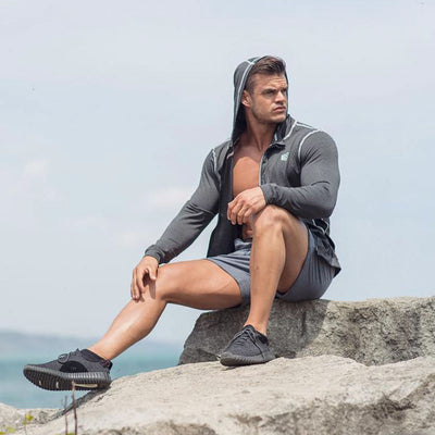2018 Autumn New Men Zipper Thin Sweatshirt Hoodies Man Bodybuilding Workout Hooded Jacket Male Gyms Fitness Jogger Tops Clothing