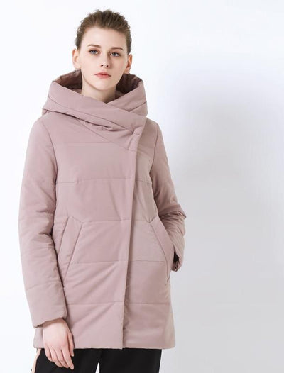 ICEbear 2019 spring new ladies coat windproof warm short jacket zippered design high quality women's clothing GWC19508I
