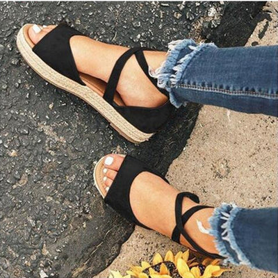 Women Sandals Rome Style Summer Shoes Women Flat Anti Skidding Beach Shoes Female Plus Size Low Heel Gladiator Sandalias Mujer