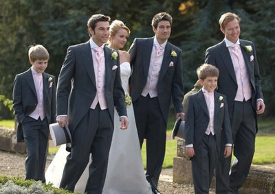 Morning Style Groomsmen Custom Made Groom Tuxedos One Button Men Suits Wedding Best Man Blazer ( Jacket+Pants+Vest ) C120