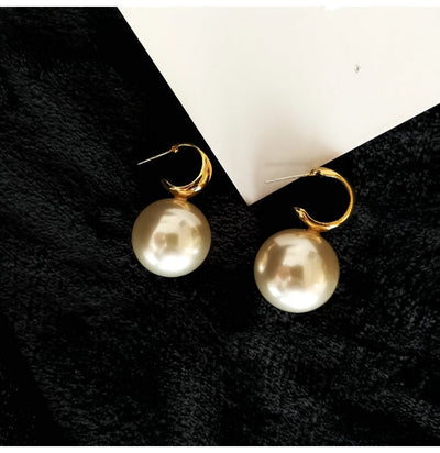 Women New Fashion Pearl Earrings Personality Metal Geometry Water Drop Kinds Of Exaggerated Drop earrings Jewelry