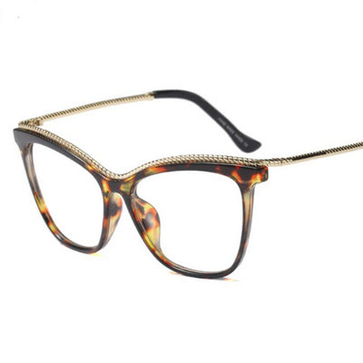 Cat Eye Glasses Frames Women Glasses Unique Metal Thread Frame Styles Brand Optical Fashion Computer Glasses