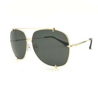 HBK Fashion Oversized Pilot Sunglasses Women UV400 Retro Brand Designer Big Frame Sun Glasses For Female Ladies Eyewear