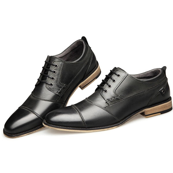 New Men Dress shoes formal shoes men's Handmade business shoes wedding shoes Big Size Genuine Leather