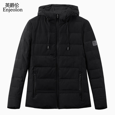 Brand Winter Hoodies Cotton Padded Jacket Men Windproof Parka Man Thick Quilted Puls Size 3XL Coat Men