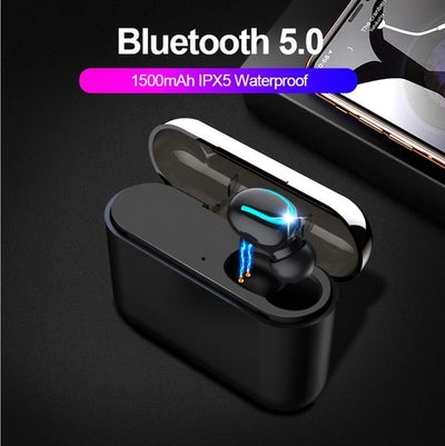 Bluetooth 5.0 Blutooth Earphone Wireless Headphones for phone True wireless Stereo Headphone Sport Handsfree Earbuds HBQ-Q32
