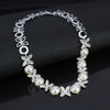 Women's Wedding Jewelry Silver Color Necklace Fashion Imitation Pearl Girl Necklace Jewelry Crystal Chokers Necklace