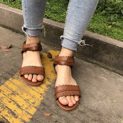 summer shoes women sandals 2019 new fashion casual flats shoes woman rome style sandalias zapatos mujer pu leather sandals women