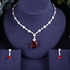 luxury 2pcs Bridal Zirconia Jewelry Sets For Women Necklace Earrings set Dubai Nigeria