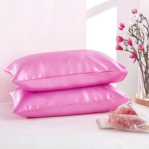 100% Silk Satin Standard Size Pillowcase 2-piece Set