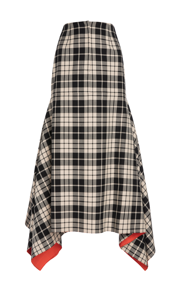 BELLE CHECK & CORAL SKIRT