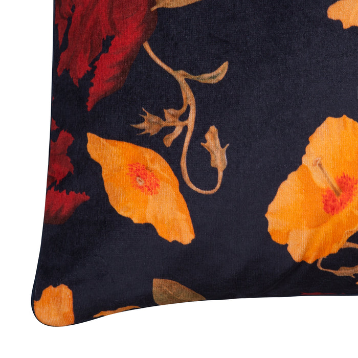 AMBER TULIP VELVET CUSHION