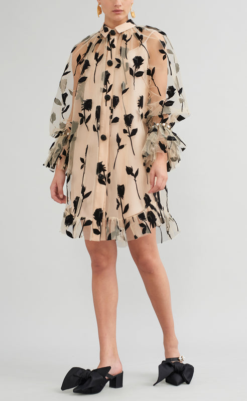 BETSY TULLE SHIRT DRESS