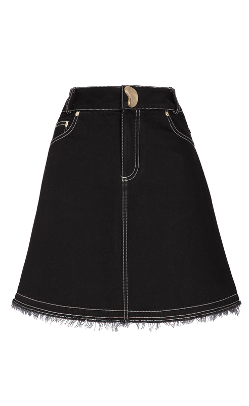 LOLA BLACK DENIM SKIRT