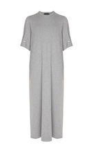 VELMA GREY MARL DRESS
