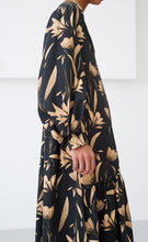 DANICA BOTANICAL BLACK DRESS
