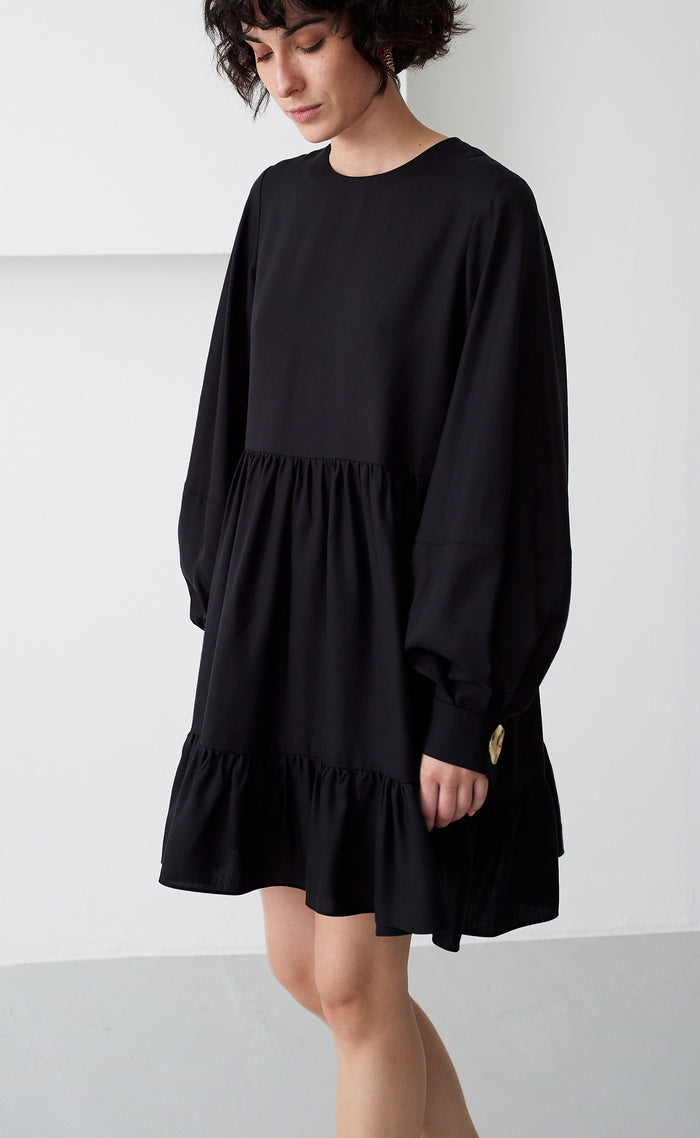 EFFIE BLACK TENCEL DRESS