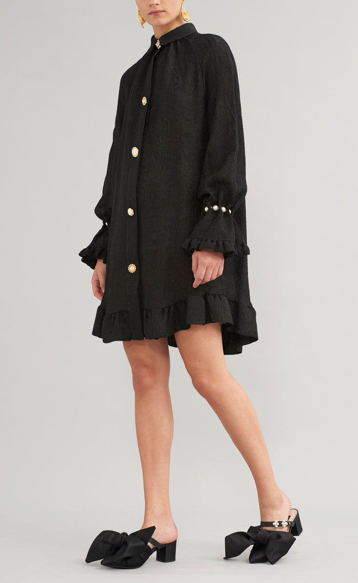 ESME FINE WOOL SHIRT DRESS