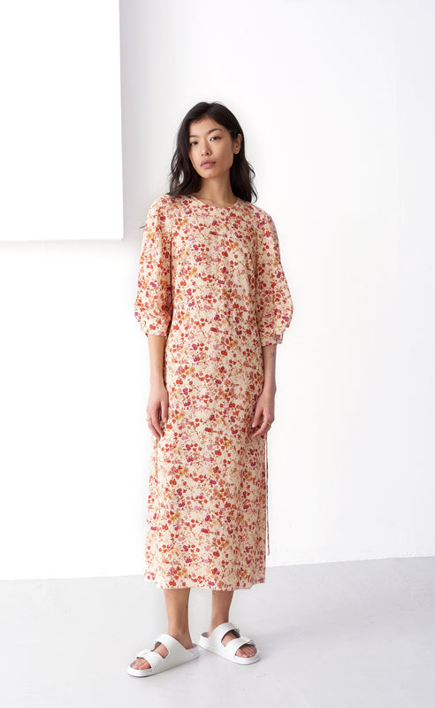 LEANNA SEPIA BLOSSOM DRESS
