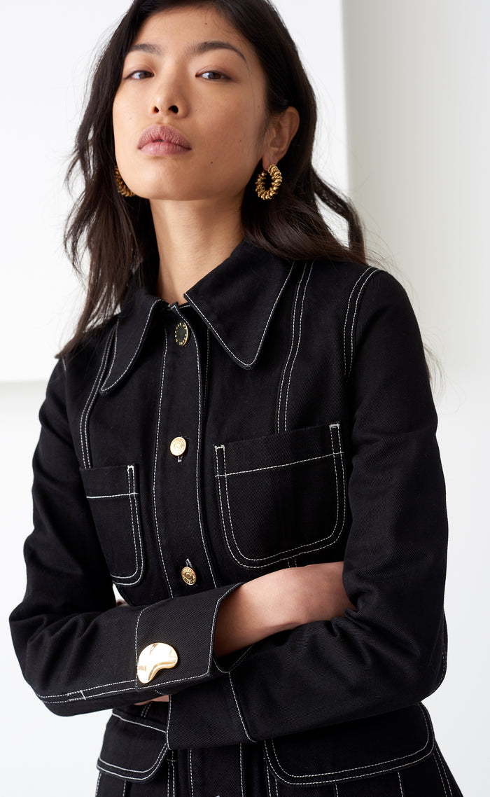 LIZZY BLACK DENIM JACKET