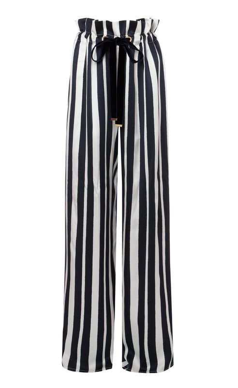 LOTTIE NAVY STRIPED TROUSER